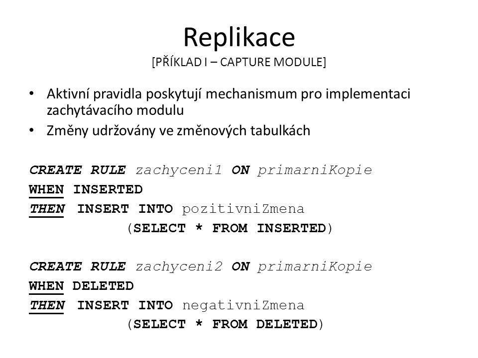 Replikace [PŘÍKLAD I – CAPTURE MODULE]
